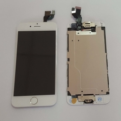 For iPhone 6 4.7'' White LCD Digitizer Touch Screen Display Assembly with Home Button Camera