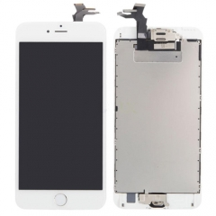 For iPhone 6S Plus 5.5'' White LCD Digitizer Touch Screen Display Assembly with Home Button Camera