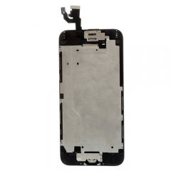 For iPhone 6 4.7'' Black LCD Digitizer Touch Screen Display Assembly with Home Button Camera