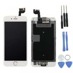 For iPhone 6S 4.7'' White LCD Digitizer Touch Screen Display Assembly with Home Button Camera