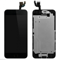 For iPhone 6 Plus 5.5'' Black LCD Digitizer Touch Screen Display Assembly with Home Button Camera