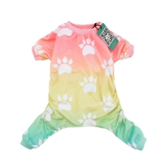 Gradient Footprint Dog Pajamas