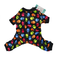 CuteBone Dog Pajamas Color Skull Dog Apparel Dog Jumpsuit Pet Clothes Pajamas P21