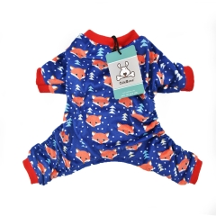 DarkBlue Fox Dog Pajamas