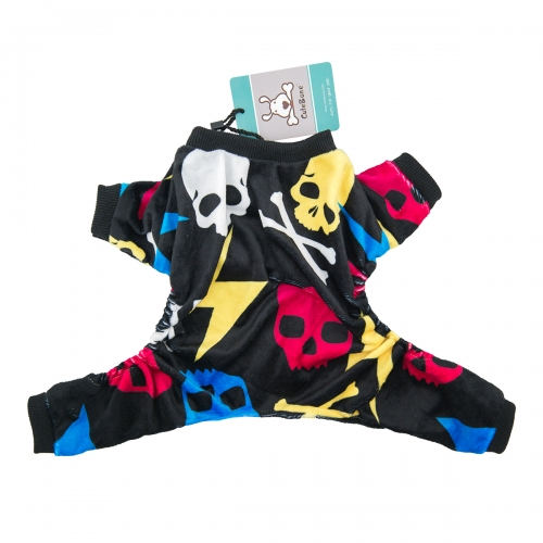 CuteBone Dog Pajamas Skeleton Dog Apparel Dog Jumpsuit Pet Clothes Pajamas P29