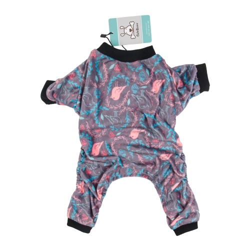 CuteBone Dog Pajamas Cute Print Dog Apparel Dog Jumpsuit Pet Clothes Pajamas P52