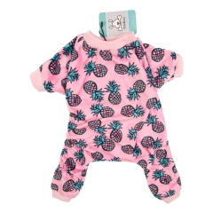 CuteBone Dog Pajamas Cute Print Dog Apparel Dog Jumpsuit Pet Clothes Pajamas P51