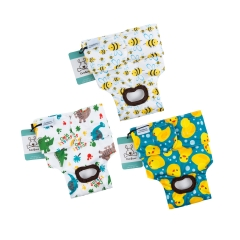 3 Pack Animal Print Reusable Diapers for Female Dog