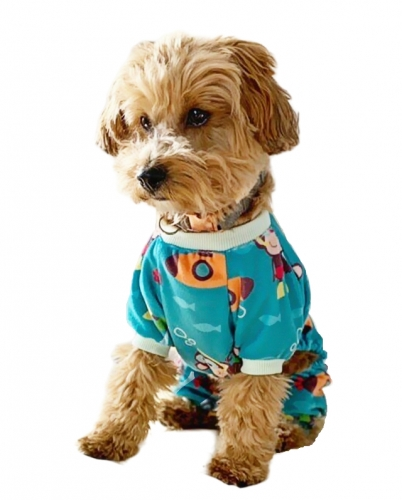 Diving Monkey Dog Pajamas