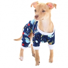 CuteBone Space Rocket Dog Apparel Dog Jumpsuit Pet Clothes Onesie Pjs P16