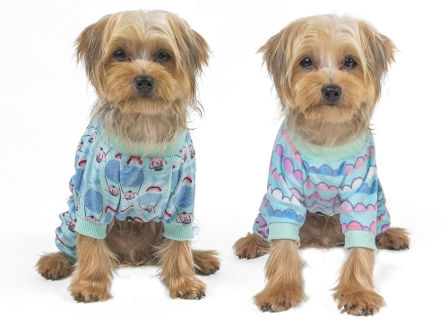 2 pack of Colorful clouds & Hot air balloon Dog pajamas
