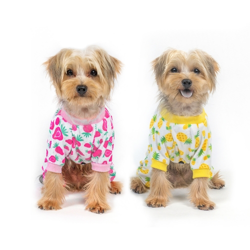Strawberry&Pineapple Dog Pajamas- 2pcs
