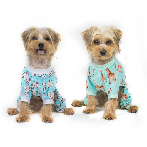 Giraffe&Cows Dog Pajamas -2pcs