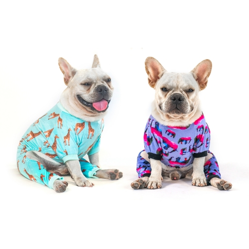 Giraffe&Elephant Dog Pajamas -2pcs