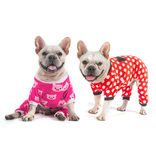 Pink Pig&Dots Dog Pajamas -2pcs