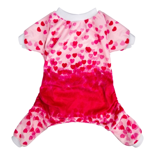 Pink Sweet Heart Dog Pajamas