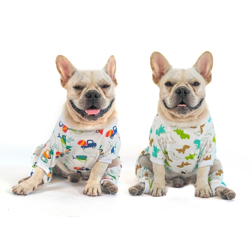 2 pack of Cotton Dog Pajamas - Dinosaur&Car