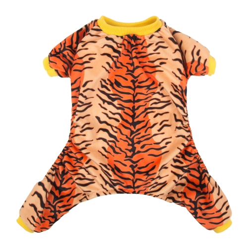 Tiger Pattern Dog Pajamas