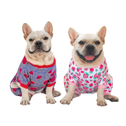 Watermelon&Strawberry Dog Pajamas - 2pcs