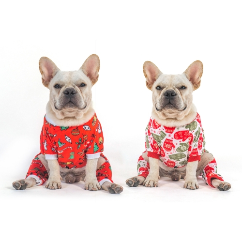 Christmas Bells and Gloves Dog Pajamas- 2pcs