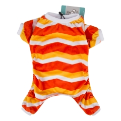 Orange&Yellow Strip Dog Pajamas