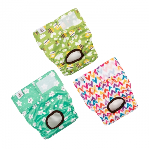 3 Pack Female Dog Diapers-Star&bee&love