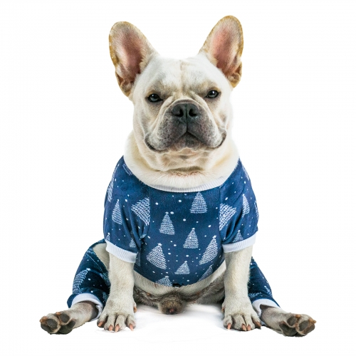 (Only Ship to US)Christmas Tree Dog Pajamas - Blue Color