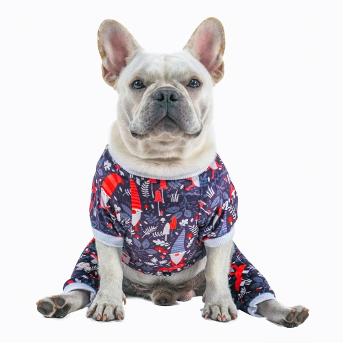 (Only Ship to US)Santa Claus Dog Pajamas for Halloween,Christmas and Holiday,Dark Gray