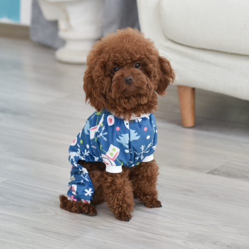 Christmas Snow Dog Pajamas-Blue