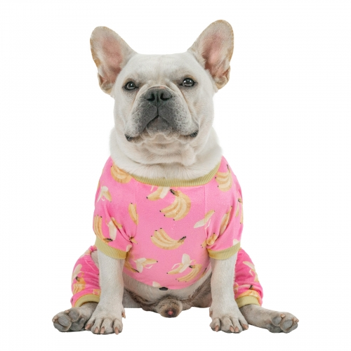 Pink Banana Dog Pajamas