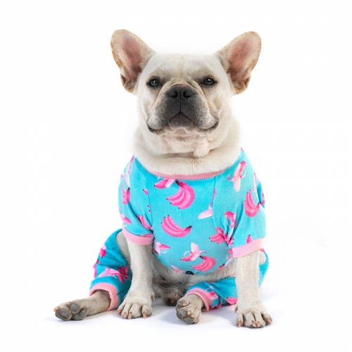 Blue Banana Dog Pajamas