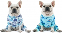 2 pack Cotton and Stretchy Dog Pajamas - Sharks & Jellyfish