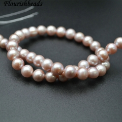 9mm 10mm Natural Nucleated Fresh Water Pearl Round Loose Beads
