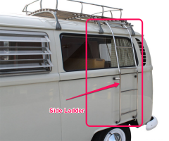 Stainless Steel  Side  Ladder for roof rack for Bus pre 7/1979