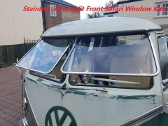 Stainless Steel Splitscreen  Front Safari Windows Kits through 67