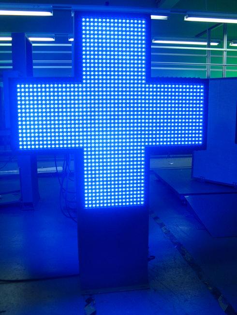 LED pharmacy cross 800 single color P16,LED Pharmacy Cross