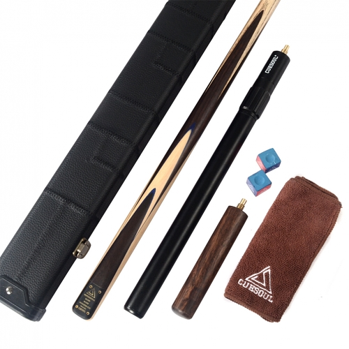 CUESOUL D414 Deluxe Package of Handcraft 57inch one piece Snooker Cue