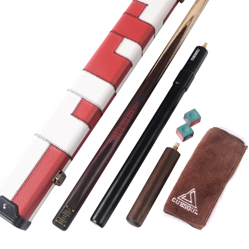 CUESOUL D411 Deluxe Package of Handcraft 57inch one piece Snooker Cue