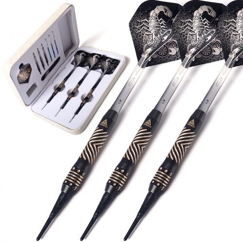 CUESOUL Black Scorpion B2307 Pure Brass 16 Gram Soft Tip Darts