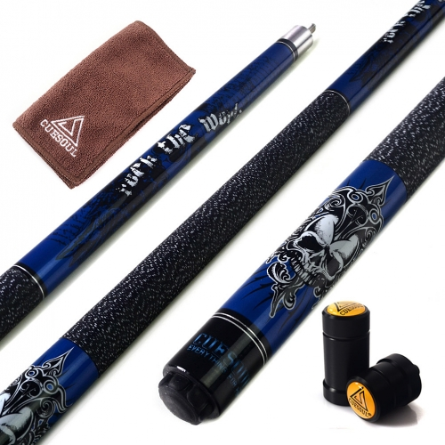 "CUESOUL ROCKIN CSPC-G405  57"" 21oz Maple Pool Cue Stick Set"