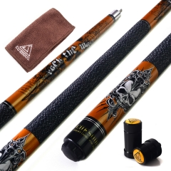"CUESOUL ROCKIN CSPC-G406  57"" 21oz Maple Pool Cue Stick Set"