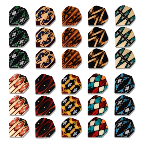 CUESOUL Standard Shape Darts Flights,Set of 30 Pieces