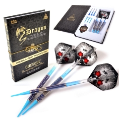 CUESOUL Dragon Fashionable 90% tungsten 18g Soft Tip Darts Set,Barrel with Titanium Coated