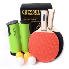 CUESOUL Tennis Tennis Set Retractable Anywhere with 2 Paddles and 4 Balls