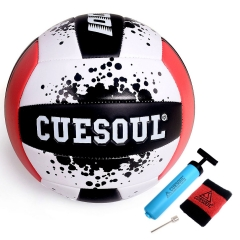 CUESOUL Soft play Volleyball, Standard #5 sized Volleyball, comes in red and yellow