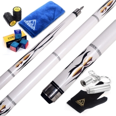 "CUESOUL U101 58"" 12.75mm Pool Cue Stick With Pearl Paint Finished"