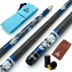 "CUESOUL ROCK II 57"" 19/20/21 oz Blue Pool Cue Stick"