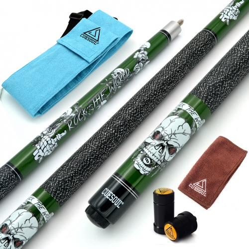 "CUESOUL ROCK II 57"" 19/20/21 oz Green Pool Cue Stick"