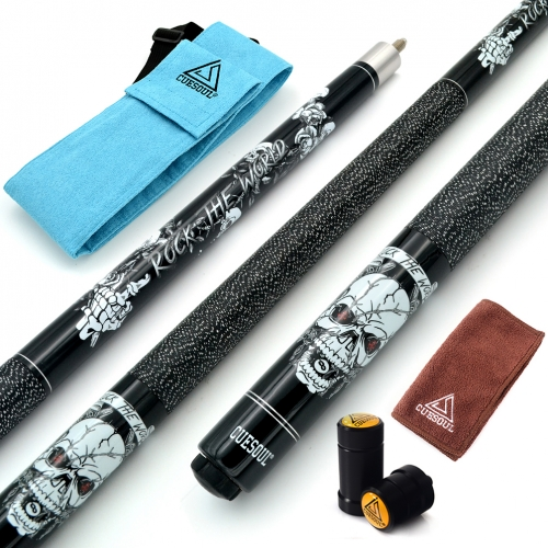 "CUESOUL ROCK II 57"" 19/20/21 oz Black Pool Cue Stick"