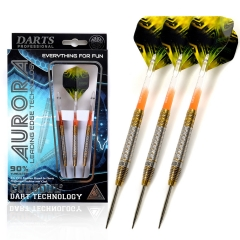 CUESOUL AURORA 21/23g/25g Steel Tip Tungsten Dart Set with Orange Shafts